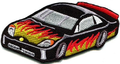 Sports car racing race exotic sexy supercar retro applique iron-on patch S-355