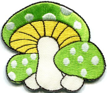 Mushroom retro boho hippie 70s love peace weed applique iron-on patch S-346