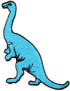 Brontosaurus Jurassic dinosaur lizard kids fun applique iron-on patch S-336