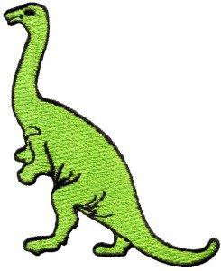 Brontosaurus Jurassic dinosaur lizard kids fun applique iron-on patch new S-340