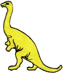 Brontosaurus Jurassic dinosaur lizard kids fun applique iron-on patch new S-342