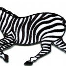 Zebra african equid wild horse safari wildlife applique iron-on patch S-581