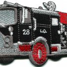 Fire engine truck rescue pumper retro applique iron-on patch S-561 FREE WORLDWIDE DELIVERY!