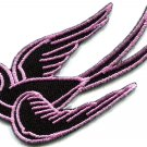 Bird tattoo swallow dove swiftlet sparrow biker applique iron-on patch S-566