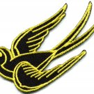 Bird tattoo swallow dove swiftlet sparrow biker applique iron-on patch S-569