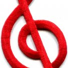 G clef treble musical note music scale classical applique iron-on patch S-575
