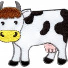 Cow bovine moo livestock bull ox oxen farm animal applique iron-on patch S-597