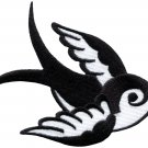 Bird tattoo swallow dove swiftlet sparrow biker applique iron-on patch S-595