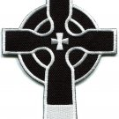 Celtic cross Irish goth biker tattoo wicca magic applique iron-on patch S-600