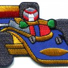 Sports car racing race exotic formula one 1 retro applique iron-on patch S-582