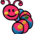 Caterpillar worm insect bug retro kids applique iron-on patch S-185