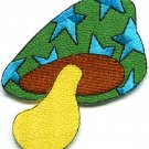 Mushroom 70s hippie boho retro love peace weed pot applique iron-on patch G-2