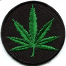 Marijuana leaf pot weed grass ganja hippie applique iron-on patch new G-4 WE SHIP ANYWHERE FOR FREE!