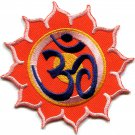 Hindu aum om infinity hindi yoga peace trance applique iron-on patch G-12