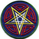 Pentagram pentacle satanic occult goth wicca witch applique iron-on patch G-6