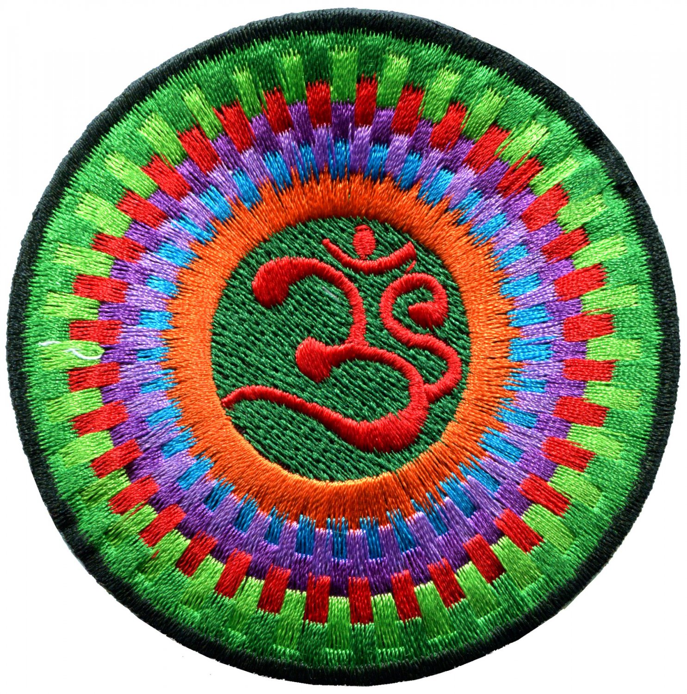 Hindu aum om infinity hindi yoga peace trance applique iron-on patch G-11