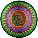 Hindu aum om infinity hindi yoga peace trance applique iron-on patch G-11