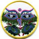 Eyes of Buddha buddhism yoga peace trance applique iron-on patch G-13