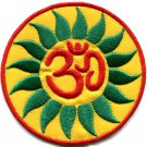 Hindu aum om infinity hindi yoga peace trance applique iron-on patch G-10