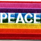 Peace sign hippie gay lesbian pride rainbow retro applique iron-on patch G-14