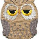 Owl bird of prey hoot animal wildlife applique iron-on patch G-29