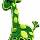 Giraffe baby animal kids fun wildlife safari applique iron-on patch G-41