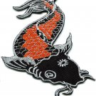 Japanese koi carp fish tattoo Japan love applique iron-on patch G-34