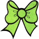 Light green bow knot ribbon boho retro sew sewing applique iron-on patch G-22