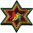 Lion of Judah flag star rasta rastafarian reggae applique iron-on patch G-16