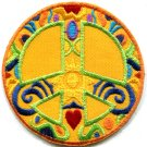 Peace sign hippie boho retro sixties flower power applique iron-on patch G-37