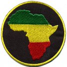 Africa flag of Judah flag rasta reggae distressed applique iron-on patch G-50