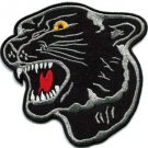 Black panther cat puma jaguar leopard cougar animal applique iron-on patch S-502