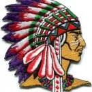 Native American Indian chief ethnic retro biker applique iron-on patch new S-251
