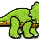 Triceratops dinosaur kids applique iron-on patch S-300