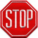 Stop sign signal traffic street road warning applique iron-on patch new S-715