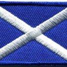 Flag of Scotland Scottish st. andrew's cross applique iron-on patch Medium S-721