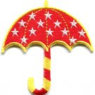 Umbrella brolly bumbershoot canopy gamp sunshade applique iron-on patch S-556