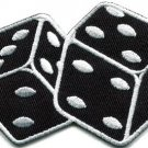 Pair of dice craps gambling Las Vegas poker applique iron-on patch new S-713