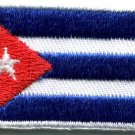 Flag of Cuba Cuban Havana homeland or death applique iron-on patch Medium S-785