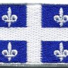 Flag of Quebec Canada Canadian fleurdelise applique iron-on patch Med. S-838
