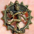 Hindu god Shiva Nataraja Nataraj aum brass pendant amulet charm necklace new B-8