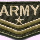 Army military insignia rank war biker retro applique iron-on patch new S-47