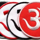 Lot of 4 aum om infinity hindu hindi hinduism yoga applique iron-on patches
