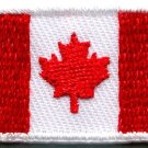 Canada national flag Canadian maple leaf applique iron-on patch small new S-112