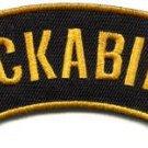 Rockabilly retro rock and roll folk music biker applique iron-on patch S-1106