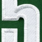 Number 5 numeral math counting five school applique iron-on patch new S-940