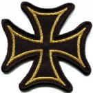 German Iron Cross military medal WW2 valor biker iron-on applique patch S-529