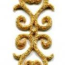 Gold trim fringe lace glitter boho retro sew applique iron-on patch new S-1042