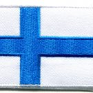 Flag of Finland Finnish Nordic Europe applique iron-on patch new S-95