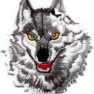 Wolf wolves biker retro applique iron-on patch S-237